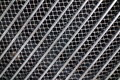 Silver car grille coloured radiator on front of Royalty Free Stock Photography
