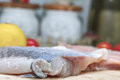 Silver carp in polish cuisine on the polish table known as tolpyga tasty fished freshwater fish in china and eastern siberia Stock Photography