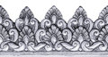 Silver carve. Royalty Free Stock Photo