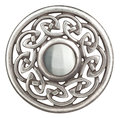 Silver celtic brooch Stock Photography