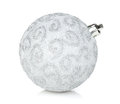 Silver christmas bauble Royalty Free Stock Photo
