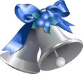 Silver christmas bells illustration of Stock Images