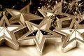 Silver Christmas stars Royalty Free Stock Images
