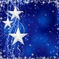 Striebro hviezdy na modrý