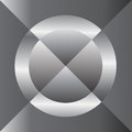 Silver circle cross abstract Royalty Free Stock Photo