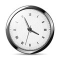 Silver clock illustration of the on the white background Stock Image