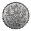 Silver coin, 1914 Royalty Free Stock Photo
