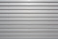 Silver corrugated metal with bolts Royalty Free Stock Photo