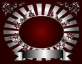 Silver and Deep Red Floral Backround Royalty Free Stock Photo