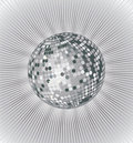 Silver disco ball Royalty Free Stock Photo