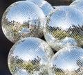 Silver disco mirror ball Royalty Free Stock Photo