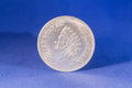 Silver dollar coin Royalty Free Stock Photo