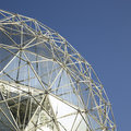 Silver dome large and blue sky Royalty Free Stock Image