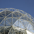Silver dome large and blue sky Stock Photos