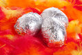 Silver eggs Stock Photography