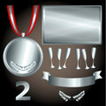 Silver elements for games and sports Royalty Free Stock Photo