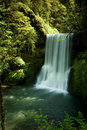 Silver Falls State Park, Lower South Falls Royalty Free Stock Photo