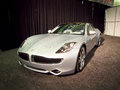 Silver fisker karma plug in hybrid model san francisco ca november at the rd international auto show november san francisco Royalty Free Stock Photos