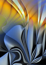 Silver flower abstract Stock Photography