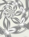 Silver Flowers Royalty Free Stock Images