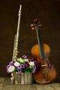 Silver flute and violin