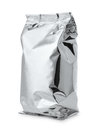 Silver foil food bag Royalty Free Stock Photo