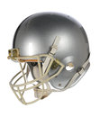 Silver Football Helmet Royalty Free Stock Photo