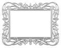 Silver frame isolated decorative over white background Stock Image