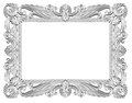 Silver frame isolated decorative over white background Stock Photography
