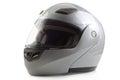 Silver glossy bike helmet isolated Royalty Free Stock Photo