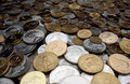 Silver and Gold Coins Royalty Free Stock Photo