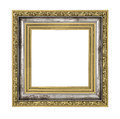 Silver and gold frame isolated on white background Royalty Free Stock Photo