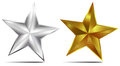 Silver and Gold Star Stock Image