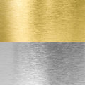 Silver and gold stitched metal textures Royalty Free Stock Photo