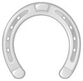 Silver horseshoe vector illustration of a isolated on white Royalty Free Stock Image