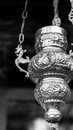Silver incense thurible in a Greek Orthodox monastery Royalty Free Stock Photo