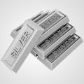 Silver ingot group from pure material illustration Royalty Free Stock Photo