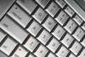 Silver keyboard detail Royalty Free Stock Images