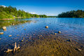 Silver Lake, in Tilton, New Hampshire. Royalty Free Stock Photo