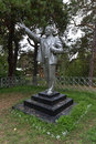 Silver lenin monument preserved in the lake baikal resort of goryachinsk Stock Photography