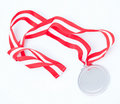 Silver medal Royalty Free Stock Photo