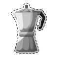 Silver metail moka pot icon Royalty Free Stock Photo