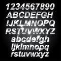 Silver Metal Font
