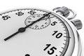 Silver modern Stopwatch Royalty Free Stock Photo