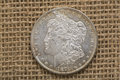 Silver Morgan dollar 1879 obverse front Royalty Free Stock Photo