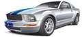 Silver muscle car Royalty Free Stock Image