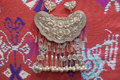 Silver necklace of Miao Nationality,China Royalty Free Stock Photo