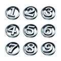 Silver numbers of phone Royalty Free Stock Image