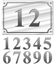Silver numbers Royalty Free Stock Photo