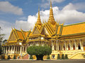 Silver pagoda royal palace phnom penh the in cambodia is a complex of buildings which serves as the residence of the king of Stock Image